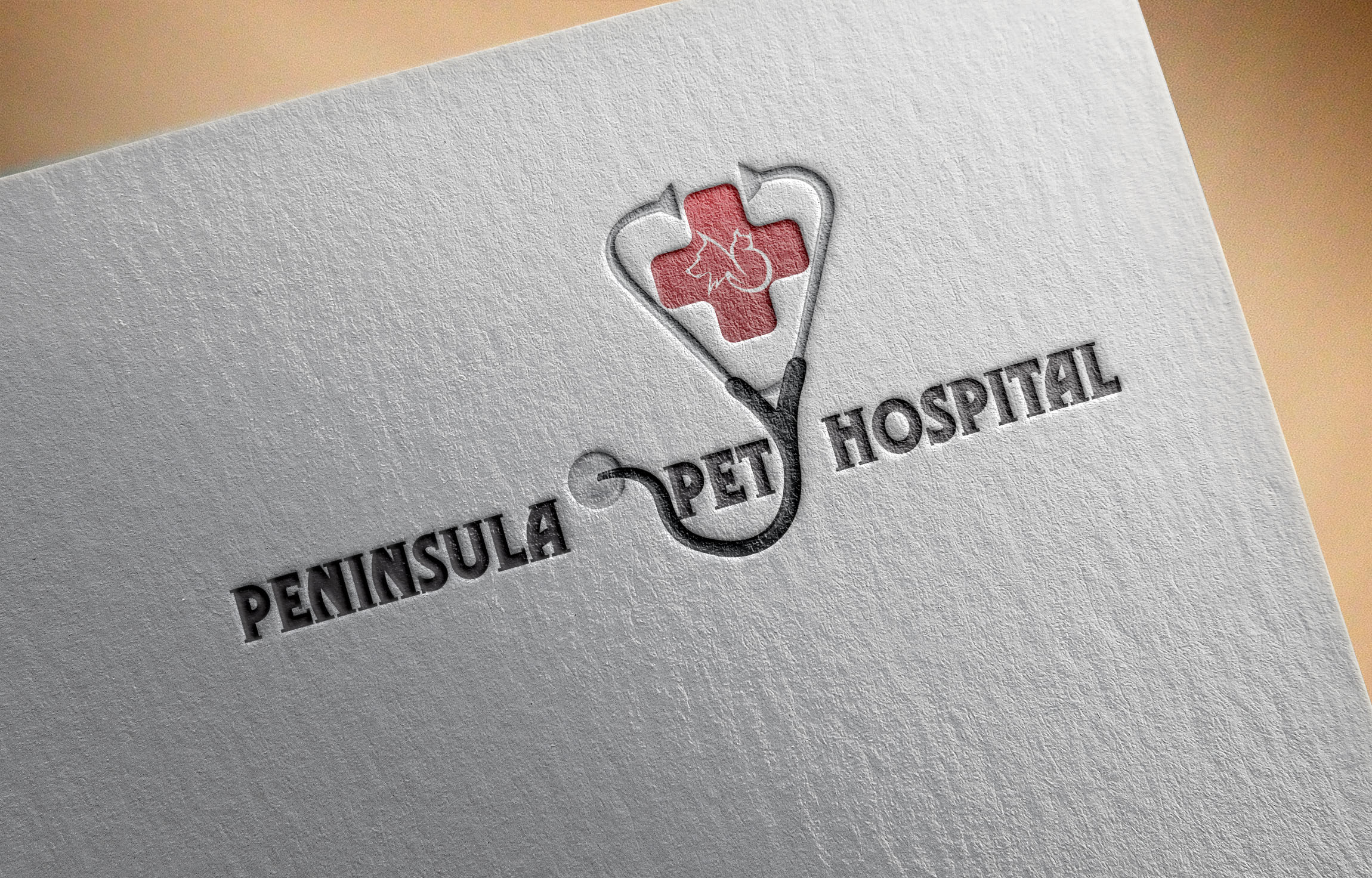 Logo Design by Umair ahmed Iqbal - Entry No. 35 in the Logo Design Contest Creative Logo Design for Peninsula Pet Hospital.