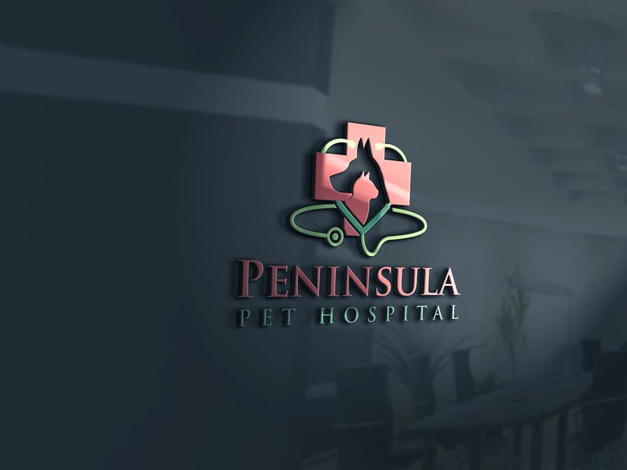 Logo Design by Private User - Entry No. 36 in the Logo Design Contest Creative Logo Design for Peninsula Pet Hospital.