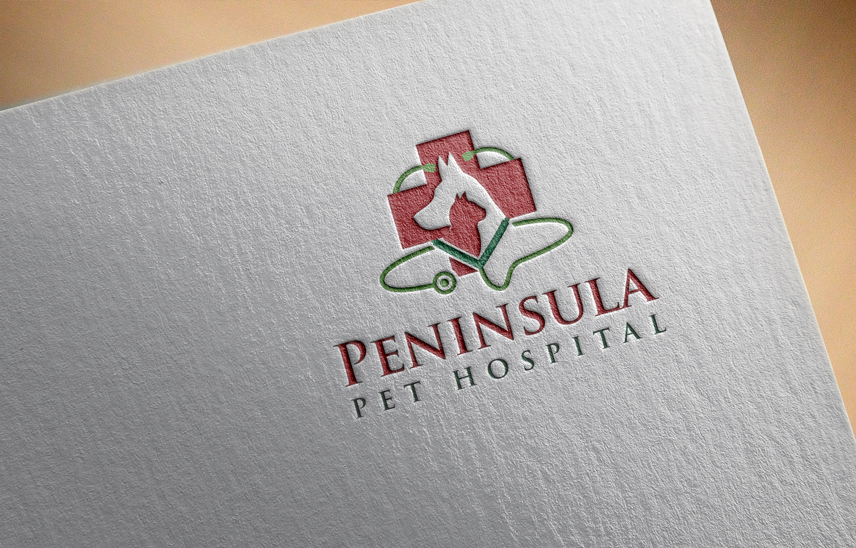 Logo Design by Private User - Entry No. 38 in the Logo Design Contest Creative Logo Design for Peninsula Pet Hospital.