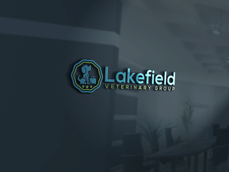 Logo Design by Private User - Entry No. 15 in the Logo Design Contest Inspiring Logo Design for Lakefield Veterinary Group.