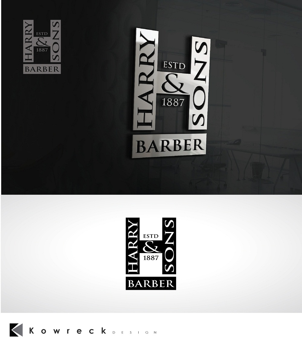 Logo Design by kowreck - Entry No. 244 in the Logo Design Contest Captivating Logo Design for Harry and Sons Barber.