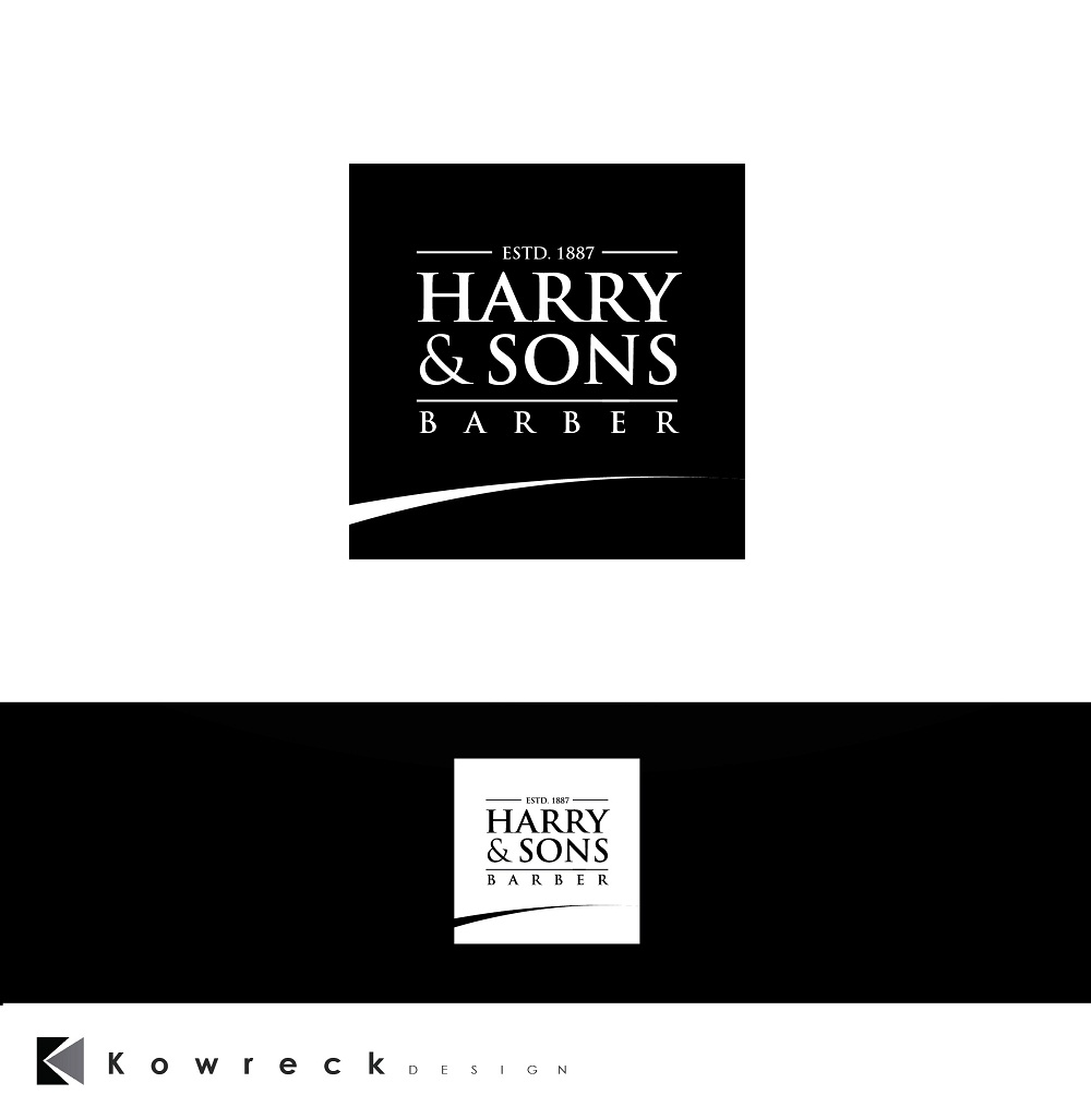 Logo Design by kowreck - Entry No. 245 in the Logo Design Contest Captivating Logo Design for Harry and Sons Barber.