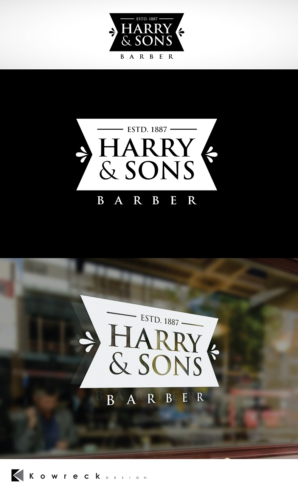 Logo Design by kowreck - Entry No. 246 in the Logo Design Contest Captivating Logo Design for Harry and Sons Barber.