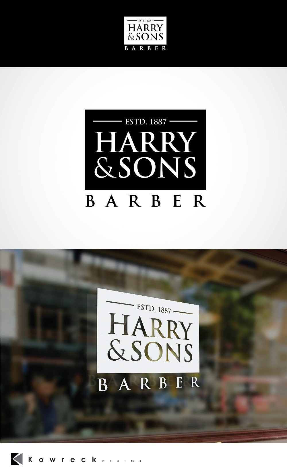 Logo Design by kowreck - Entry No. 247 in the Logo Design Contest Captivating Logo Design for Harry and Sons Barber.