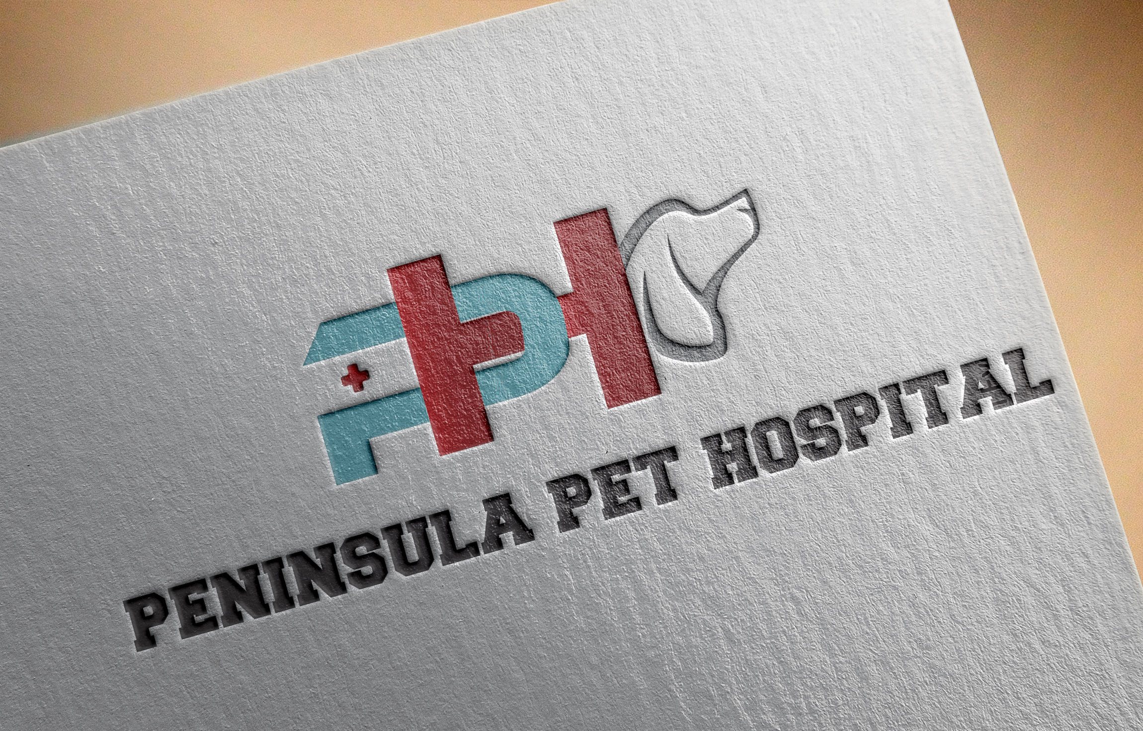Logo Design by Umair ahmed Iqbal - Entry No. 42 in the Logo Design Contest Creative Logo Design for Peninsula Pet Hospital.