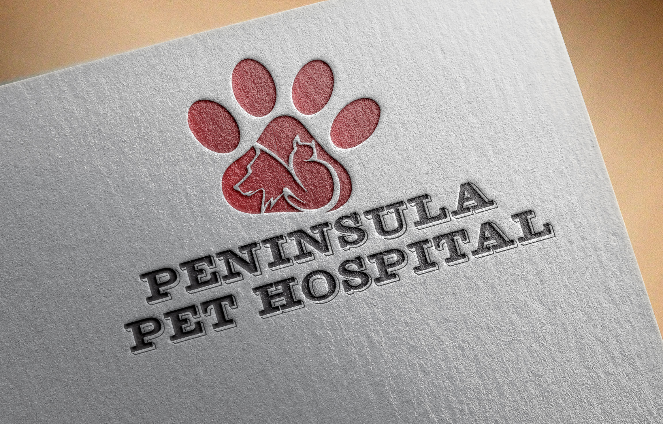 Logo Design by Umair ahmed Iqbal - Entry No. 44 in the Logo Design Contest Creative Logo Design for Peninsula Pet Hospital.