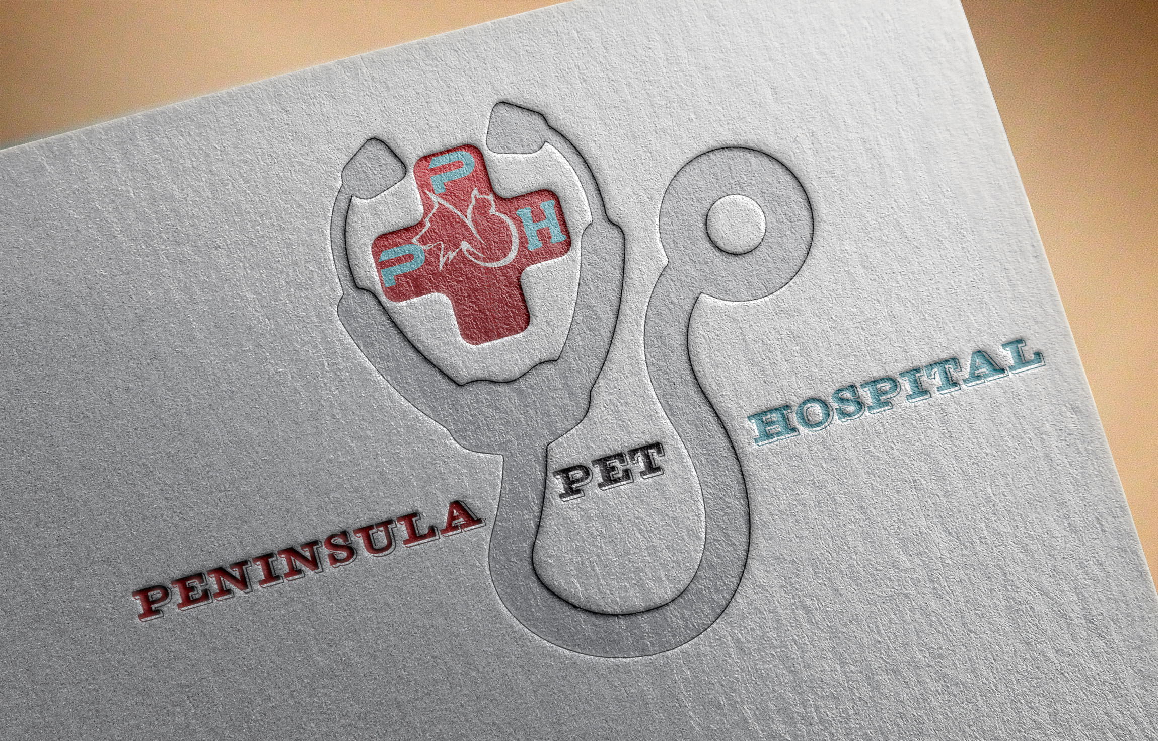 Logo Design by Umair ahmed Iqbal - Entry No. 49 in the Logo Design Contest Creative Logo Design for Peninsula Pet Hospital.