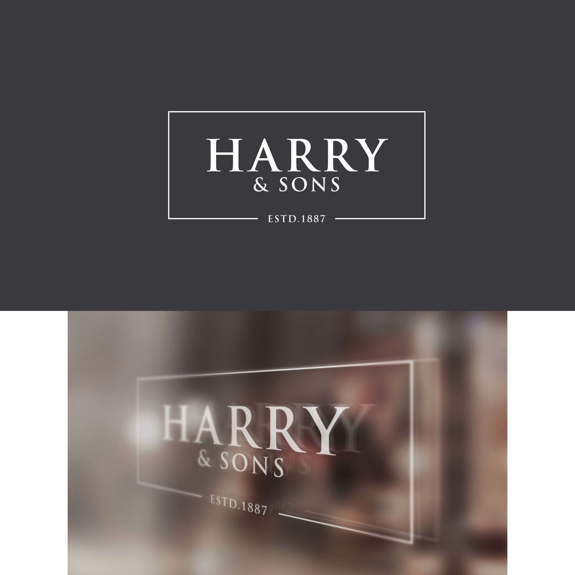 Logo Design by Roza Apostolska - Entry No. 251 in the Logo Design Contest Captivating Logo Design for Harry and Sons Barber.