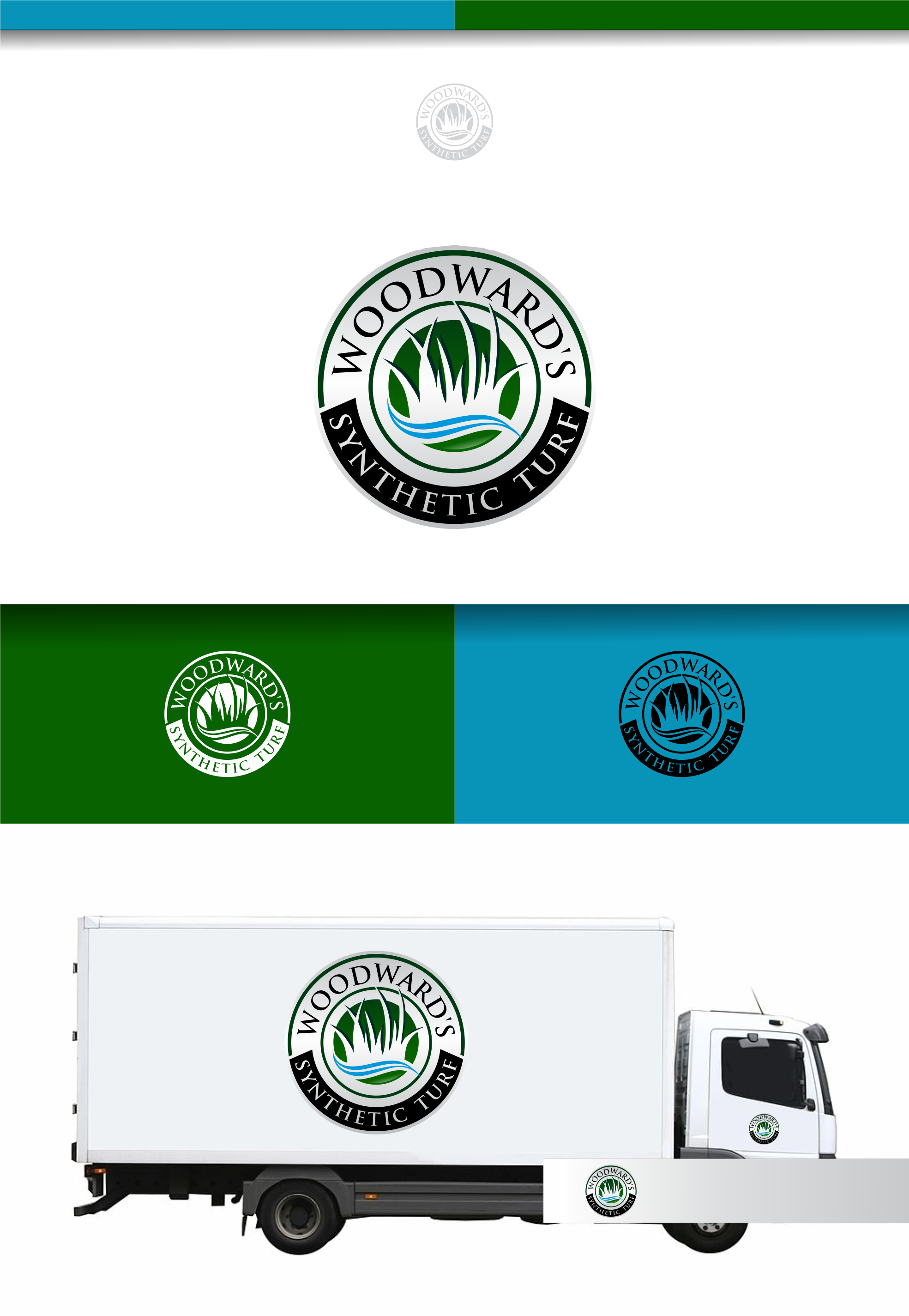 Logo Design by Raymond Garcia - Entry No. 37 in the Logo Design Contest Artistic Logo Design for Woodward's Synthetic Turf.