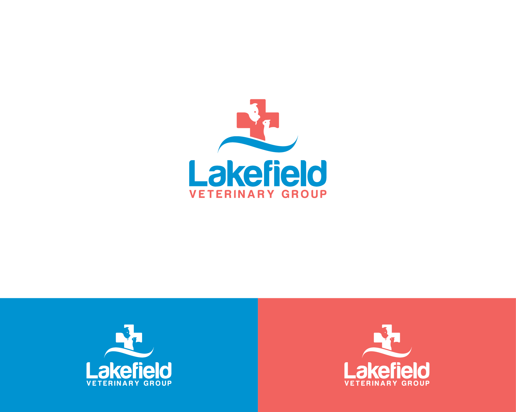 Logo Design by Shivaprasad Sangondimath - Entry No. 17 in the Logo Design Contest Inspiring Logo Design for Lakefield Veterinary Group.