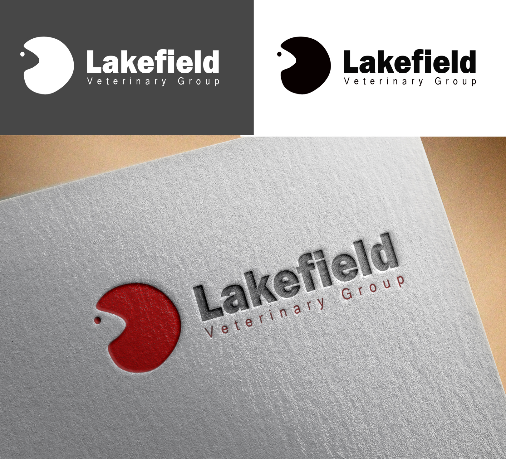 Logo Design by Sohaib Ali Khan - Entry No. 20 in the Logo Design Contest Inspiring Logo Design for Lakefield Veterinary Group.