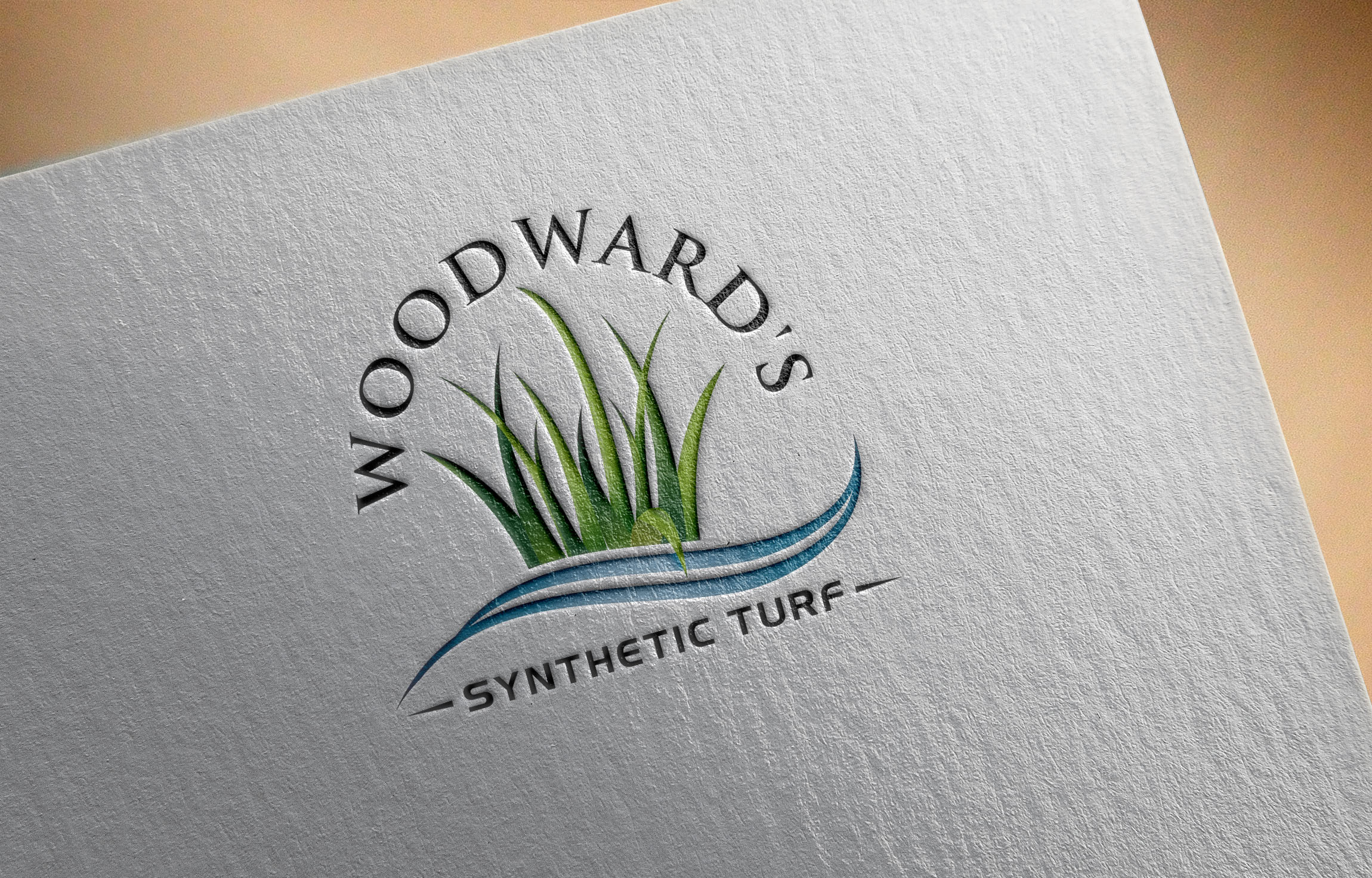 Logo Design by Raymond Garcia - Entry No. 44 in the Logo Design Contest Artistic Logo Design for Woodward's Synthetic Turf.