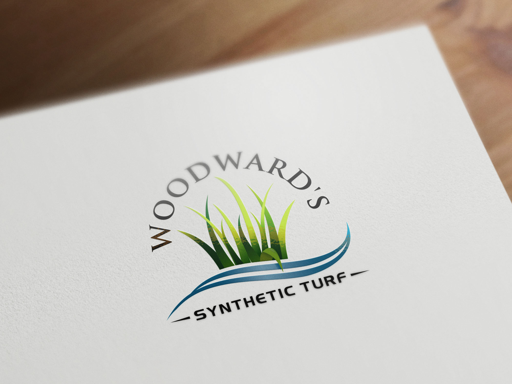 Logo Design by Raymond Garcia - Entry No. 45 in the Logo Design Contest Artistic Logo Design for Woodward's Synthetic Turf.