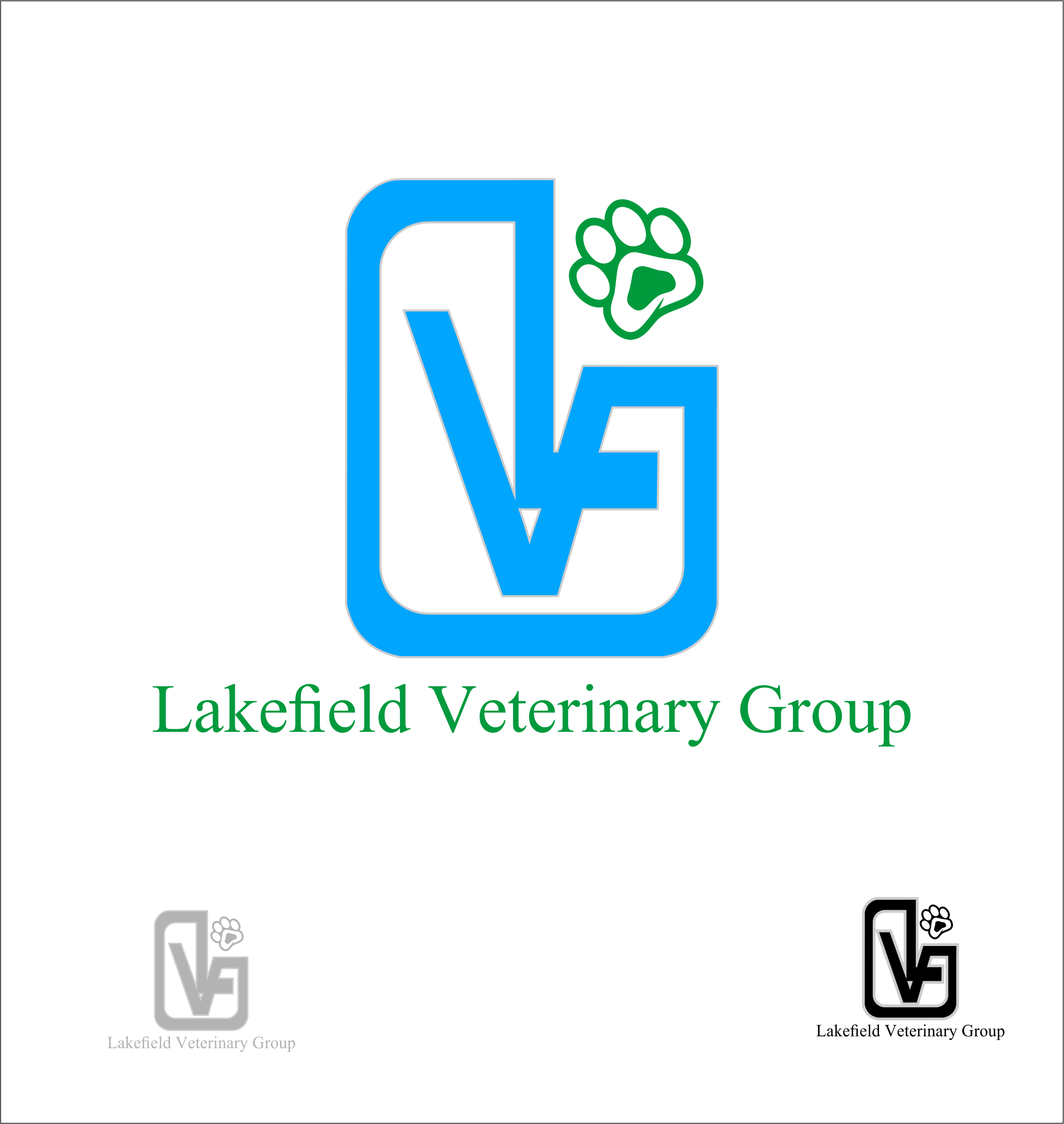 Logo Design by snow - Entry No. 27 in the Logo Design Contest Inspiring Logo Design for Lakefield Veterinary Group.