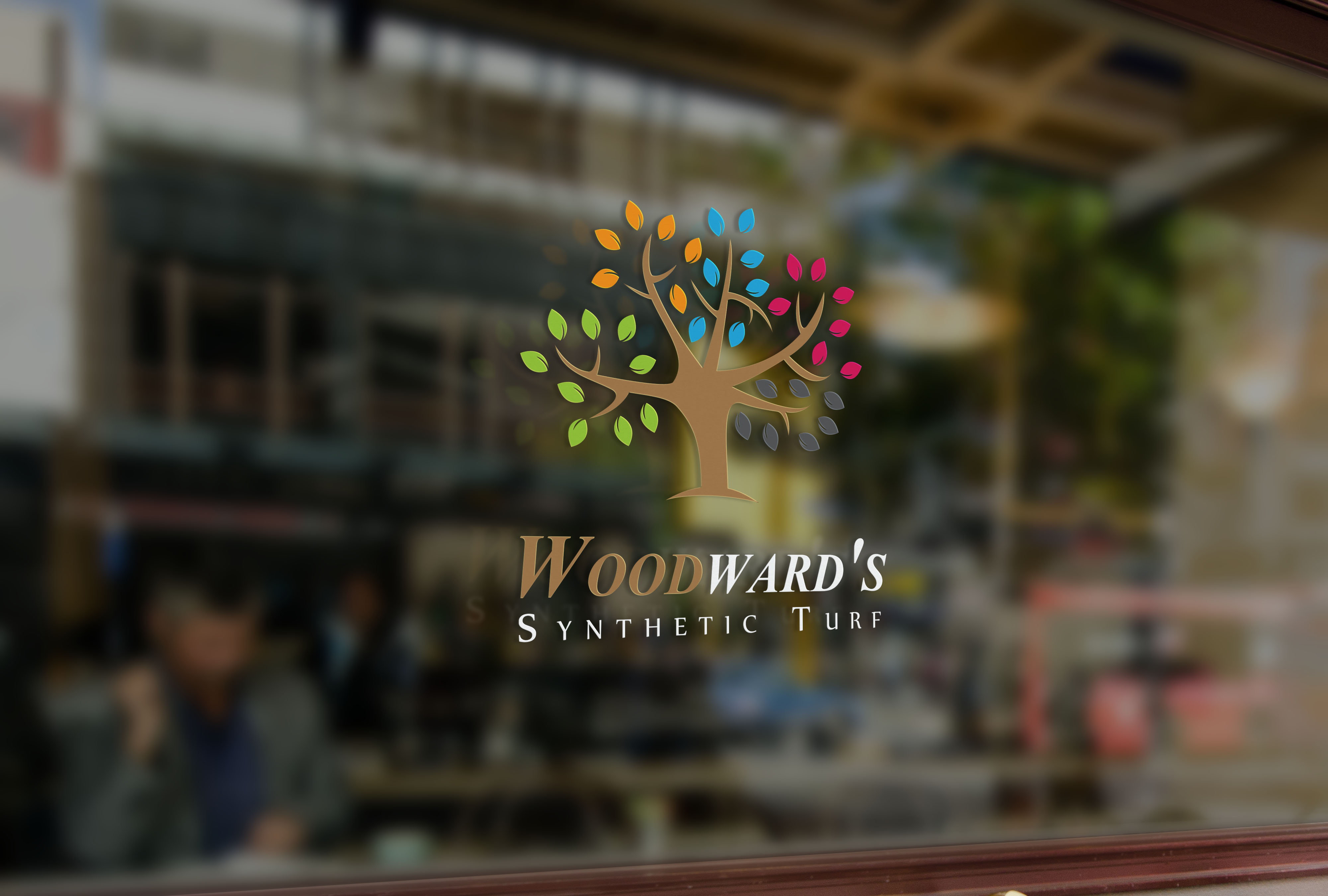 Logo Design by Muazzama Memon - Entry No. 50 in the Logo Design Contest Artistic Logo Design for Woodward's Synthetic Turf.
