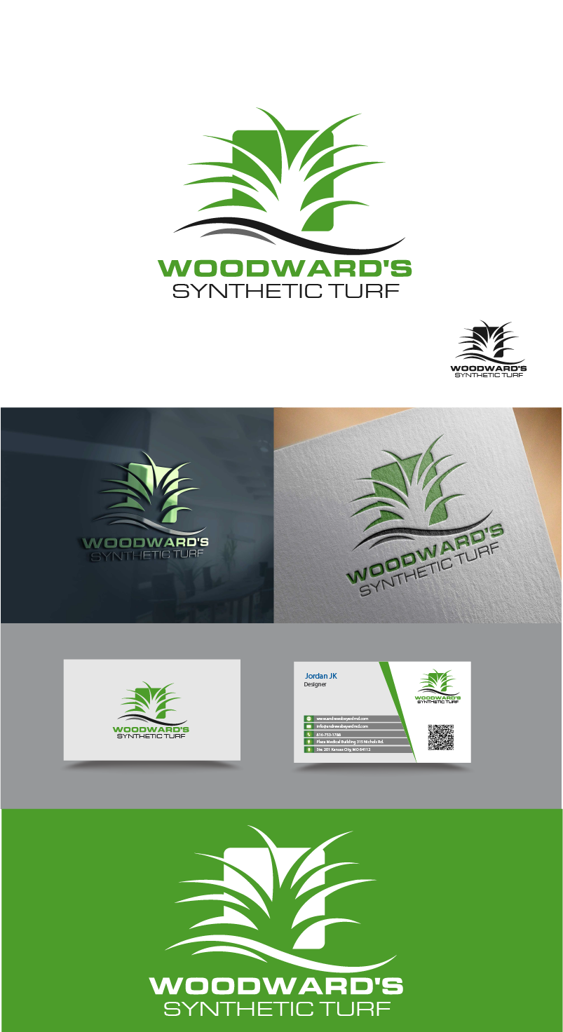 Logo Design by Private User - Entry No. 56 in the Logo Design Contest Artistic Logo Design for Woodward's Synthetic Turf.