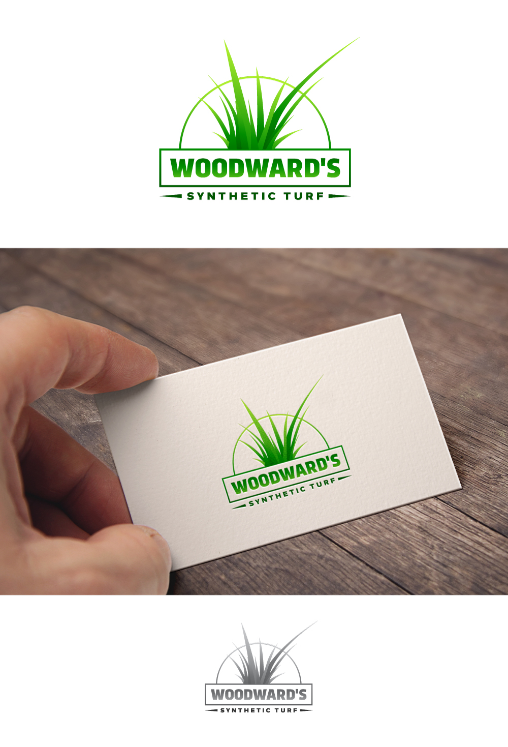 Logo Design by Tauhid Shaikh - Entry No. 63 in the Logo Design Contest Artistic Logo Design for Woodward's Synthetic Turf.