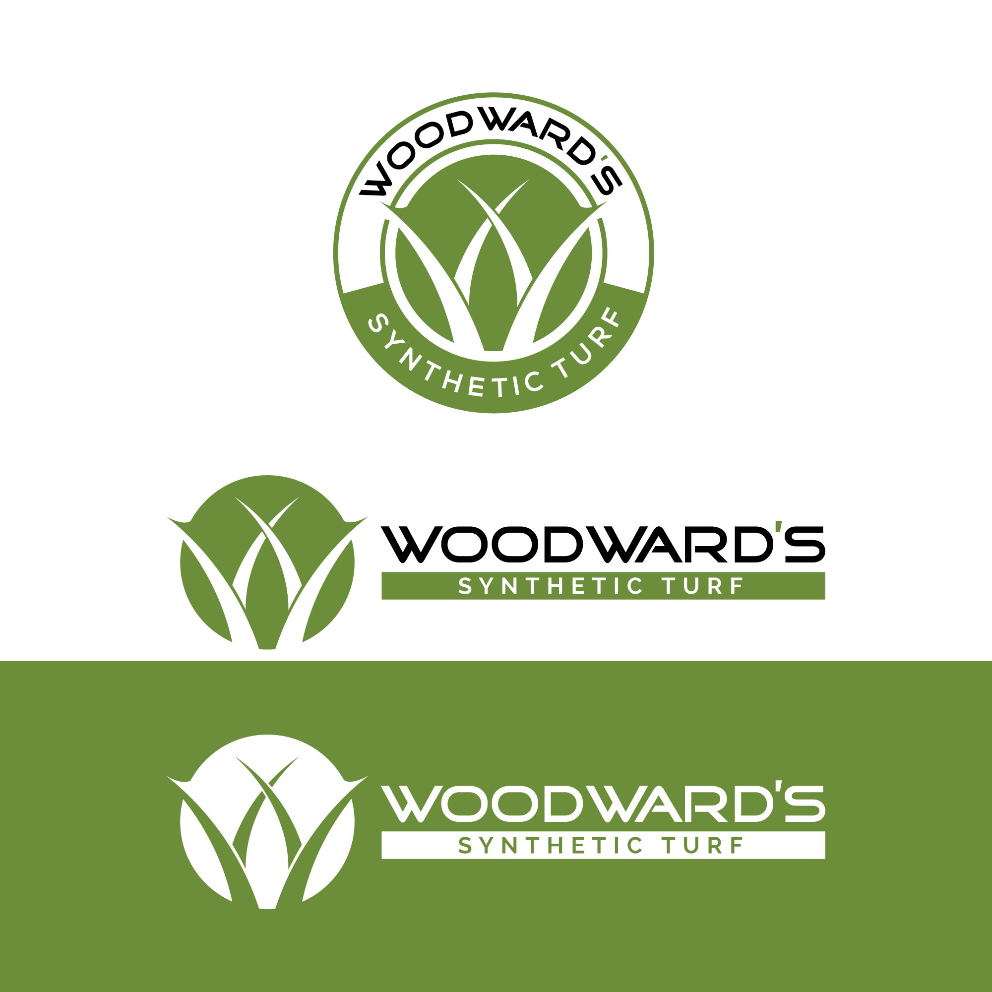 Logo Design by Roza Apostolska - Entry No. 70 in the Logo Design Contest Artistic Logo Design for Woodward's Synthetic Turf.