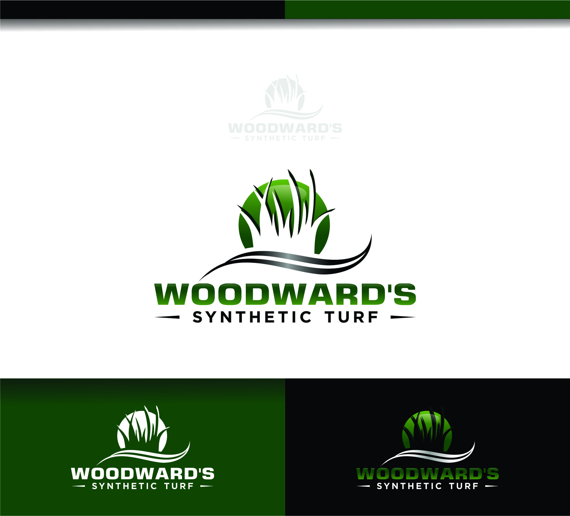 Logo Design by Raymond Garcia - Entry No. 72 in the Logo Design Contest Artistic Logo Design for Woodward's Synthetic Turf.