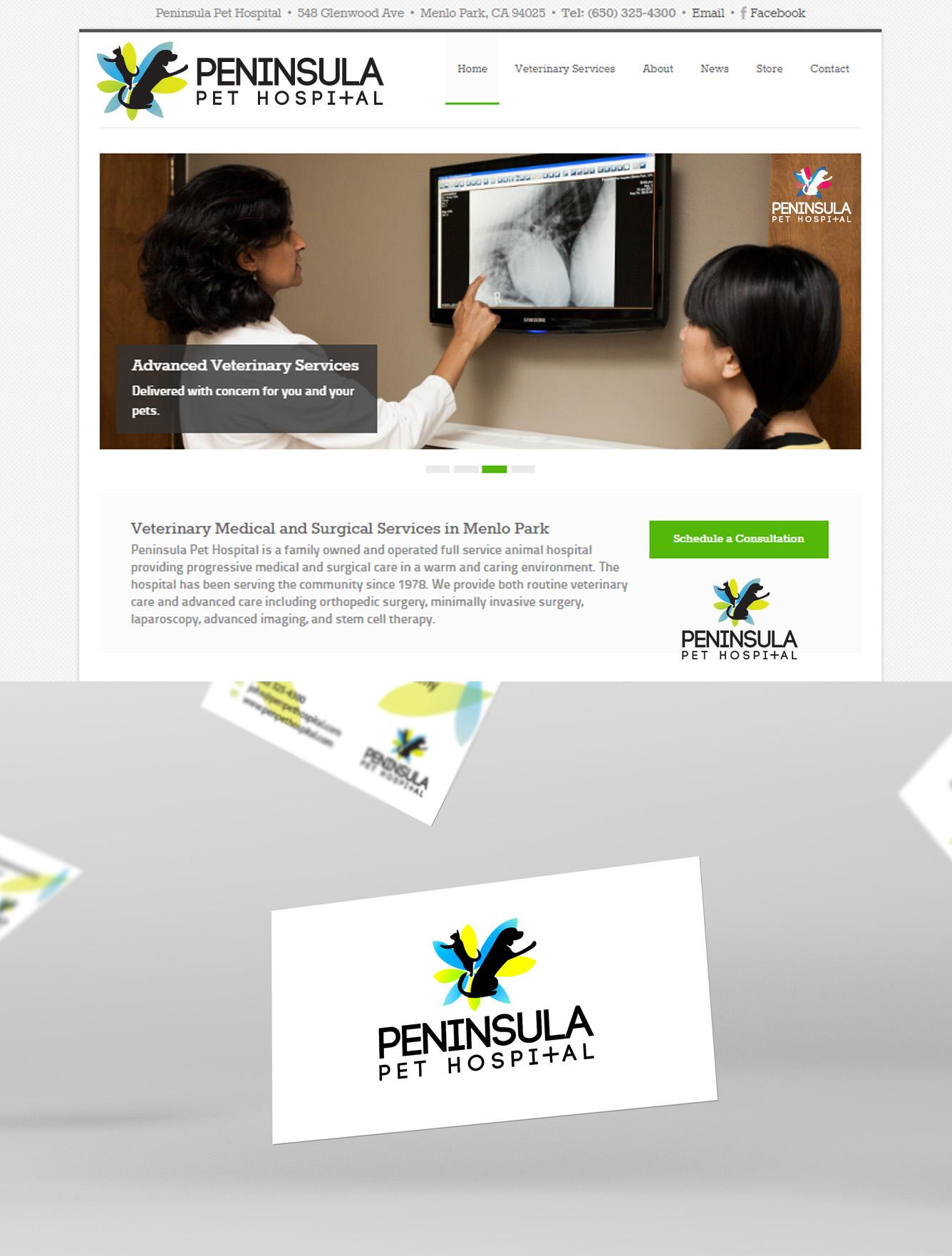 Logo Design by Manufaktura - Entry No. 96 in the Logo Design Contest Creative Logo Design for Peninsula Pet Hospital.