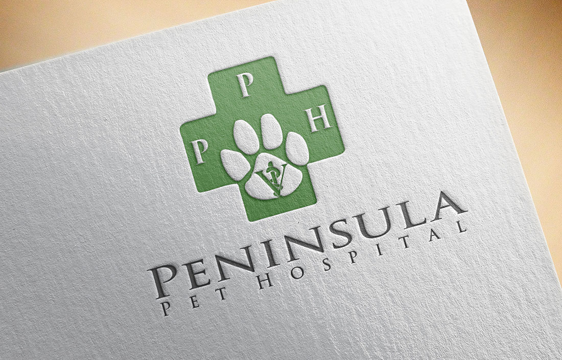 Logo Design by Wilfred Ponseca - Entry No. 100 in the Logo Design Contest Creative Logo Design for Peninsula Pet Hospital.