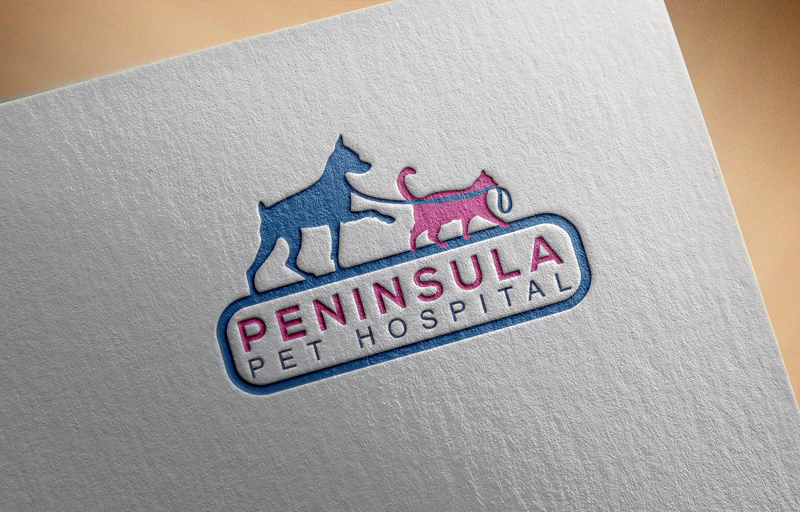 Logo Design by ARABICA Ibrahim - Entry No. 122 in the Logo Design Contest Creative Logo Design for Peninsula Pet Hospital.