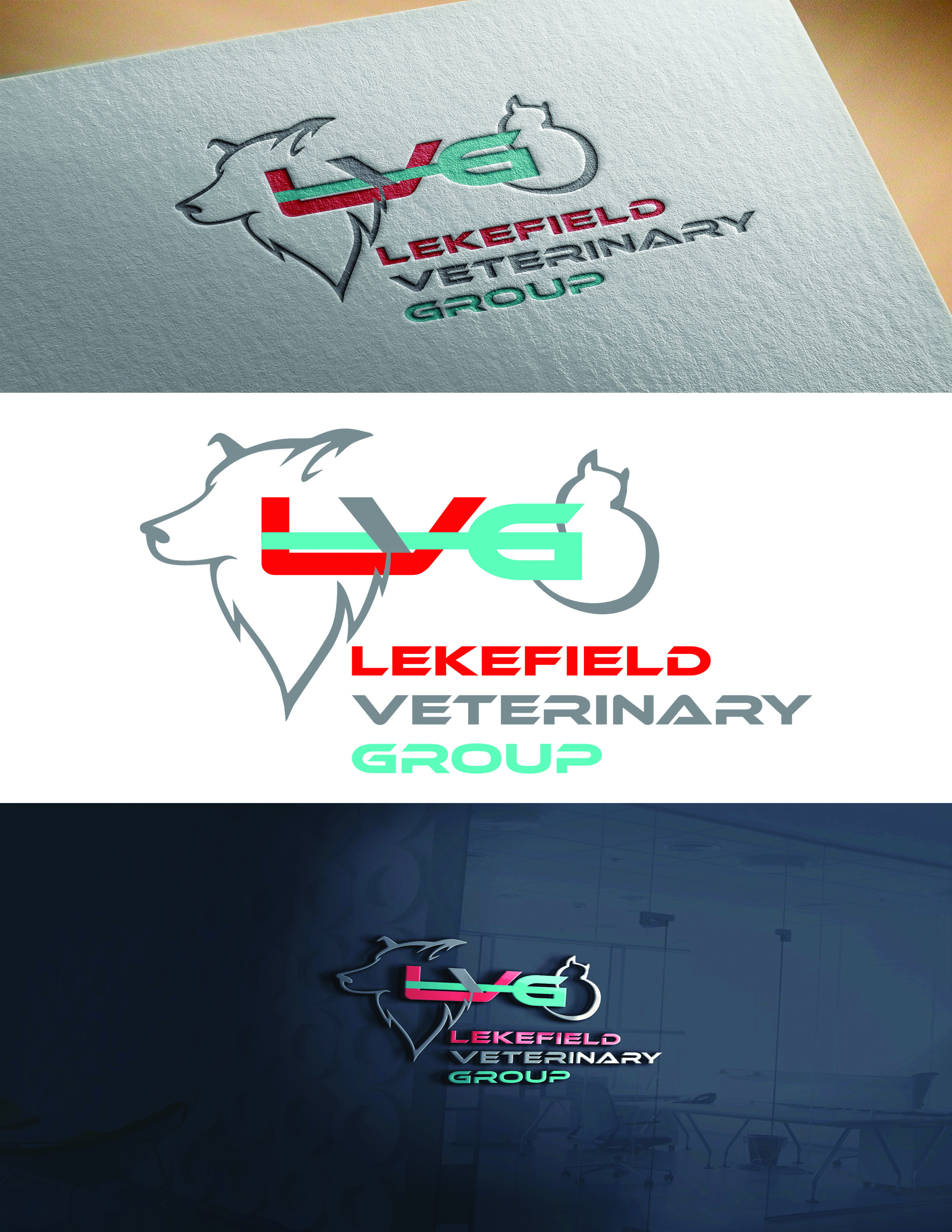 Logo Design by Umair ahmed Iqbal - Entry No. 38 in the Logo Design Contest Inspiring Logo Design for Lakefield Veterinary Group.