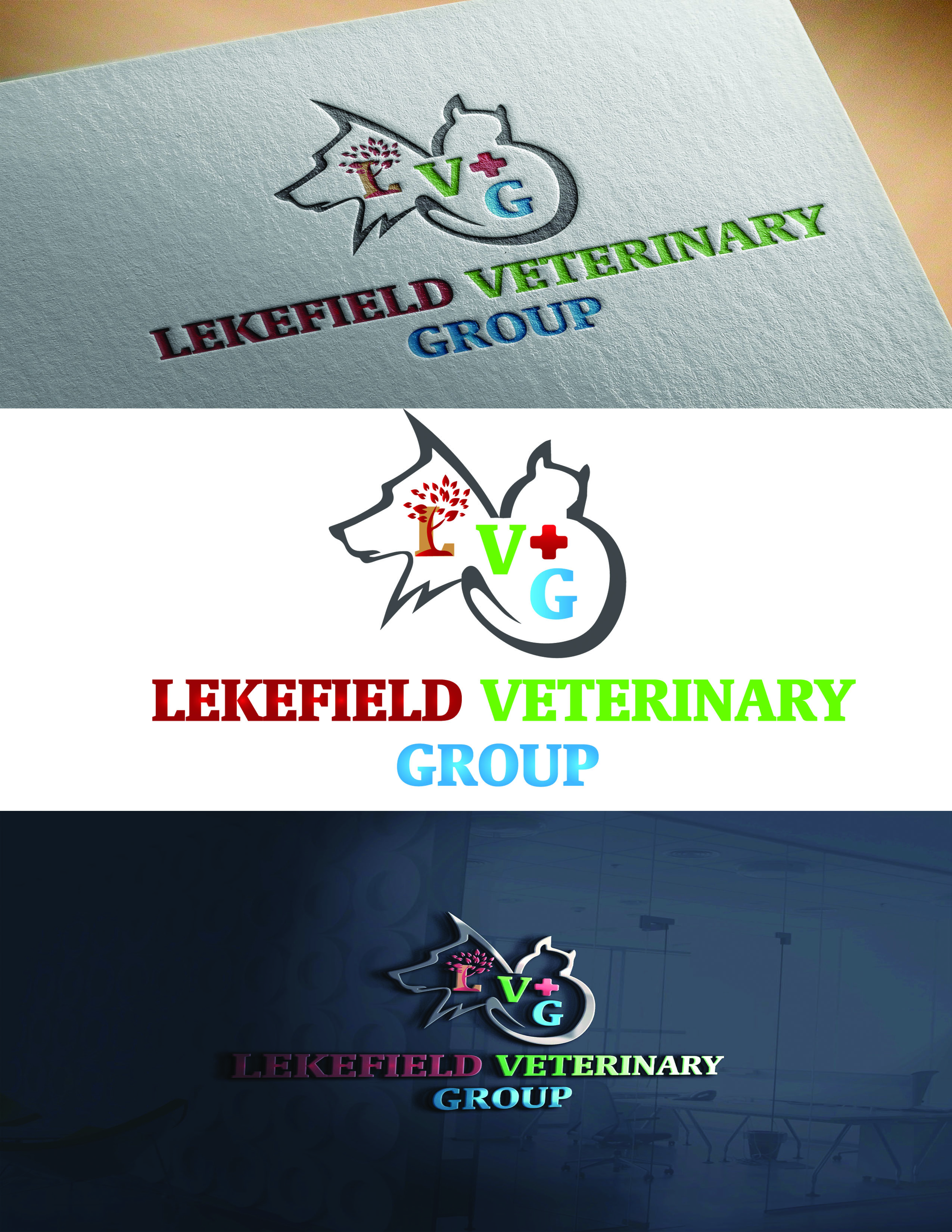 Logo Design by Umair ahmed Iqbal - Entry No. 39 in the Logo Design Contest Inspiring Logo Design for Lakefield Veterinary Group.