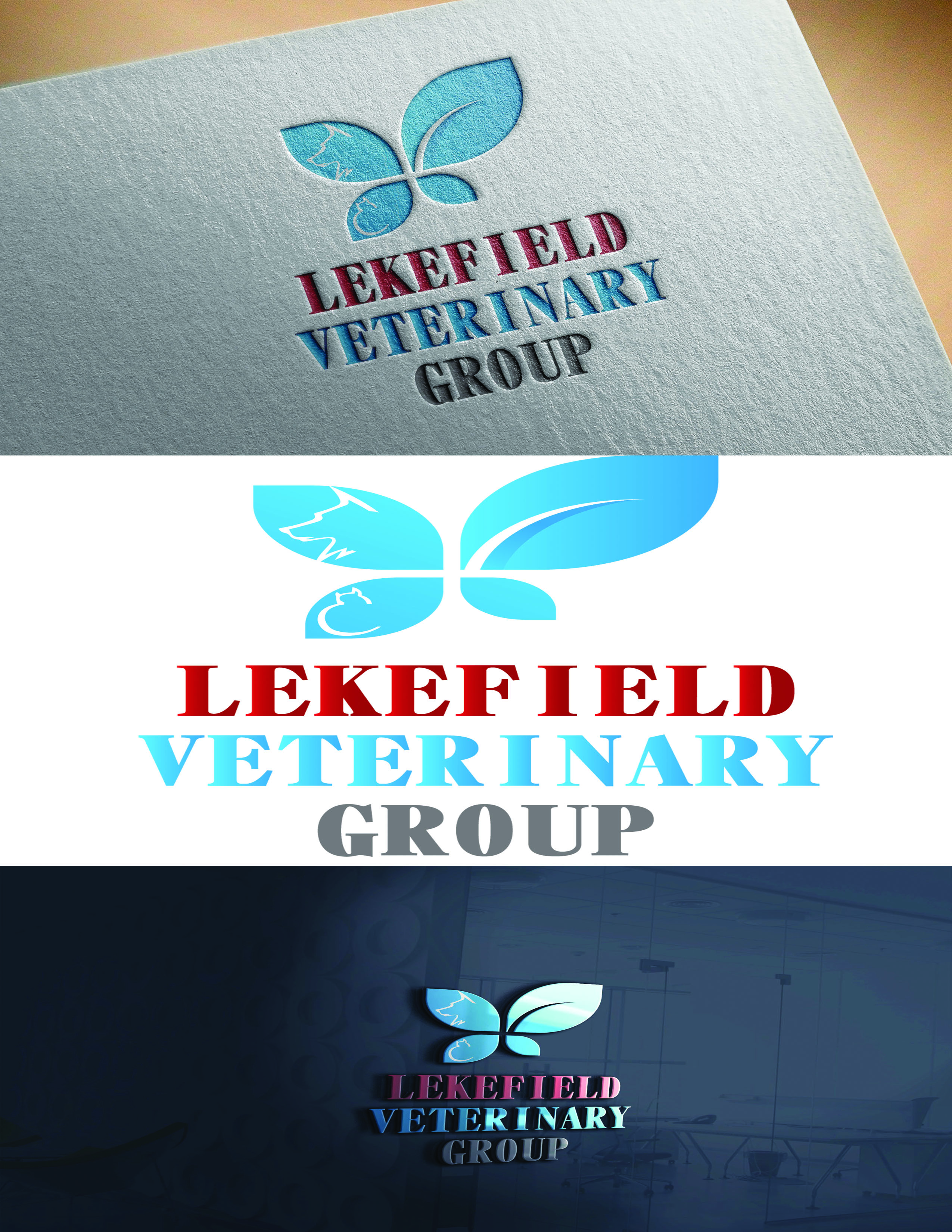 Logo Design by Umair ahmed Iqbal - Entry No. 40 in the Logo Design Contest Inspiring Logo Design for Lakefield Veterinary Group.