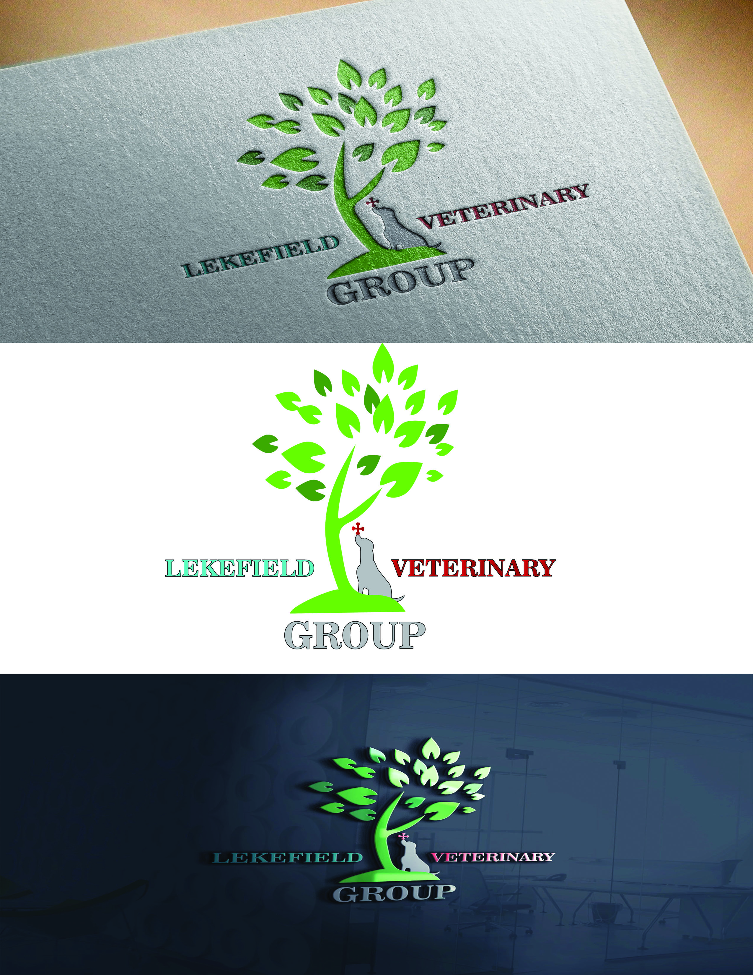Logo Design by Umair ahmed Iqbal - Entry No. 41 in the Logo Design Contest Inspiring Logo Design for Lakefield Veterinary Group.
