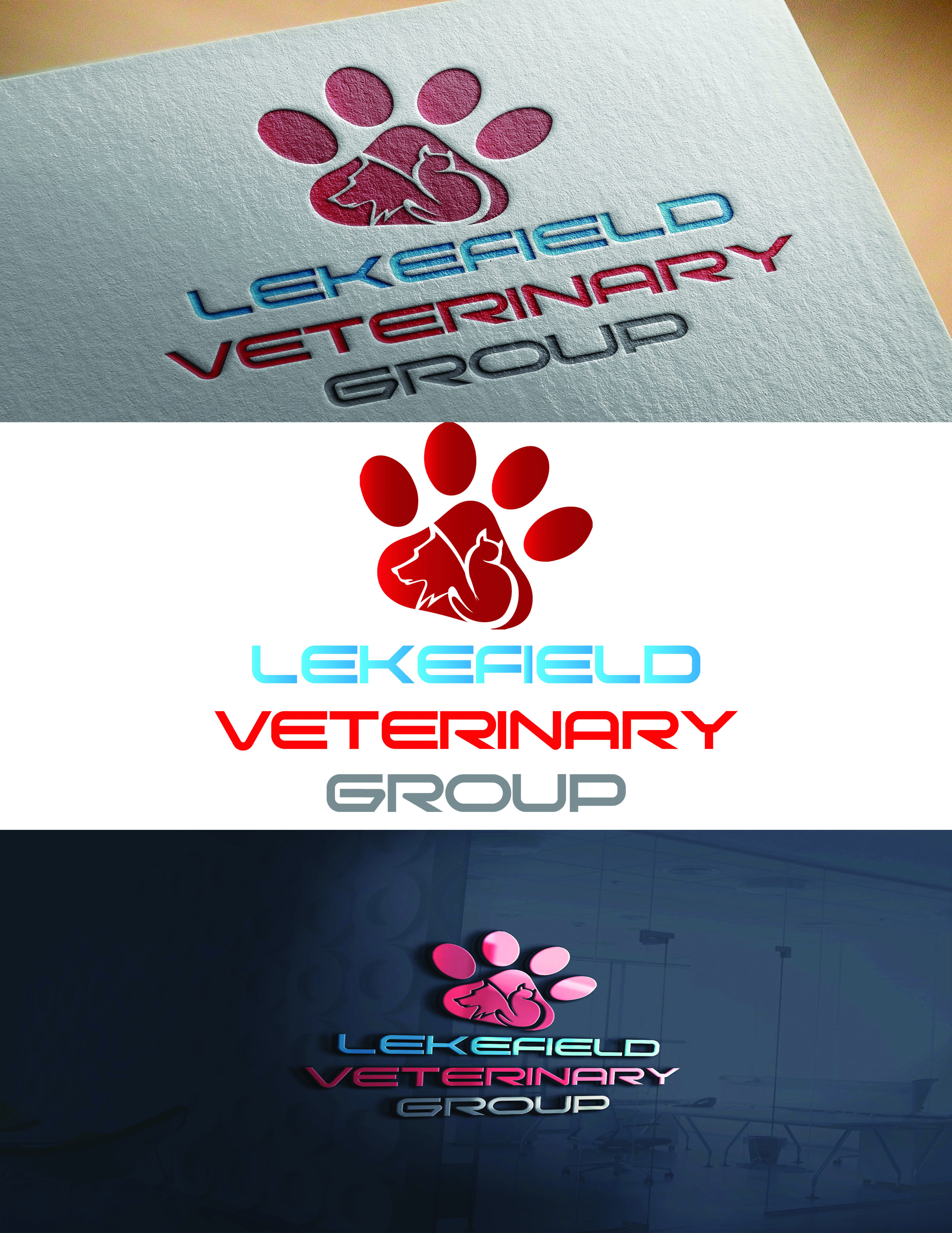 Logo Design by Umair ahmed Iqbal - Entry No. 42 in the Logo Design Contest Inspiring Logo Design for Lakefield Veterinary Group.