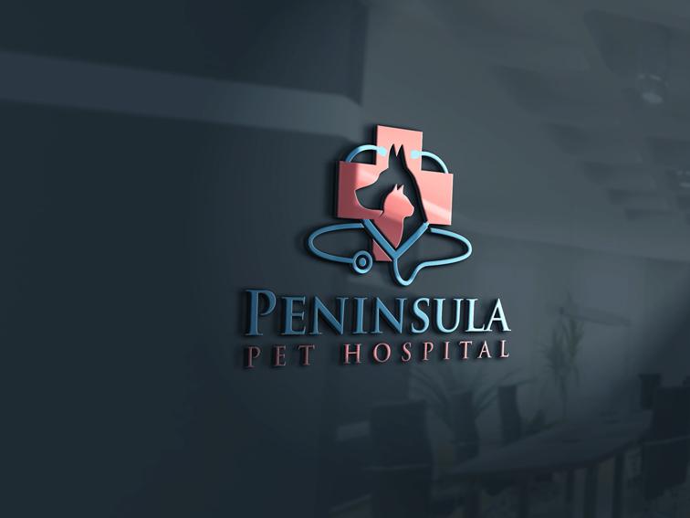 Logo Design by Private User - Entry No. 127 in the Logo Design Contest Creative Logo Design for Peninsula Pet Hospital.