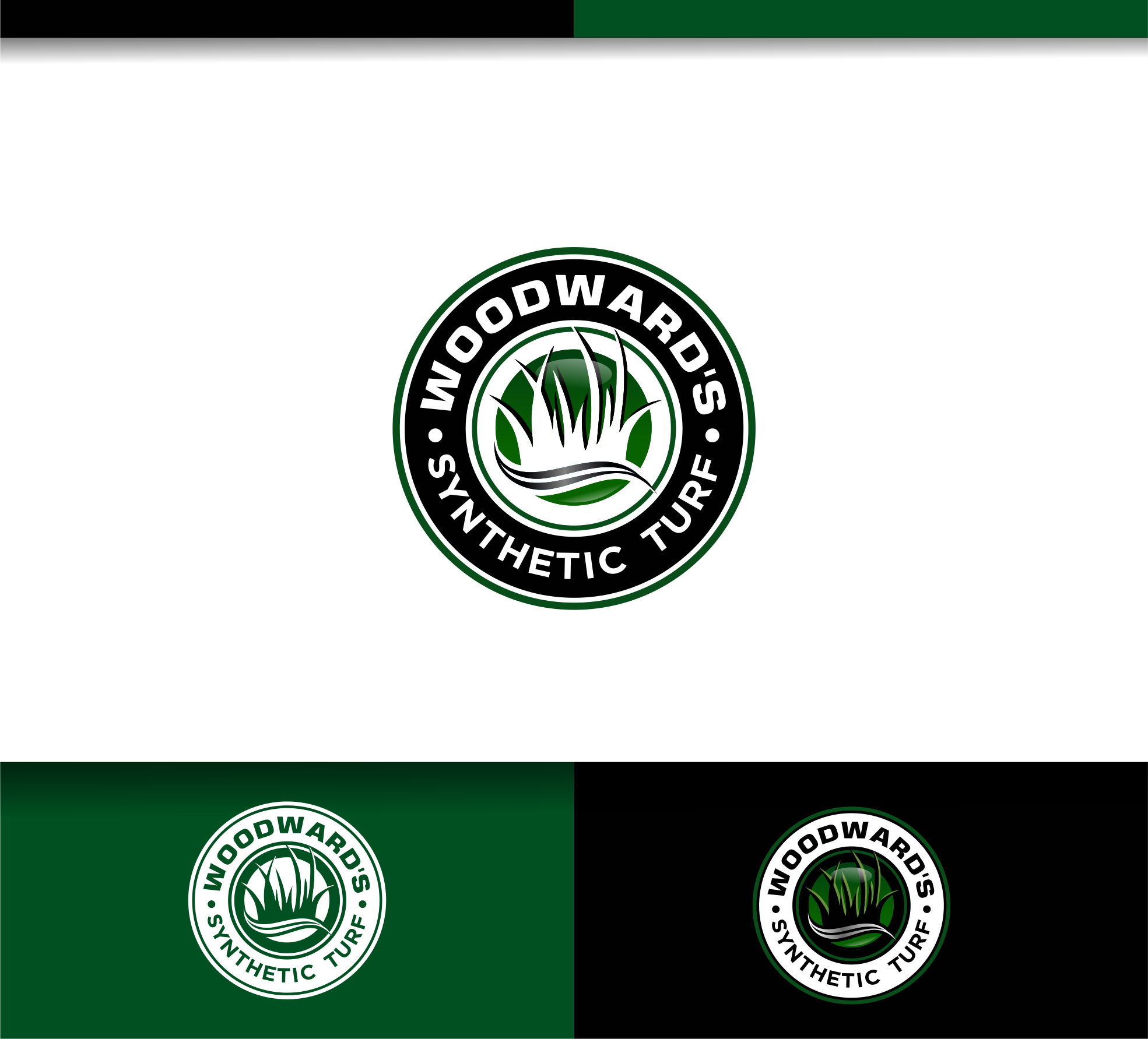 Logo Design by Raymond Garcia - Entry No. 87 in the Logo Design Contest Artistic Logo Design for Woodward's Synthetic Turf.