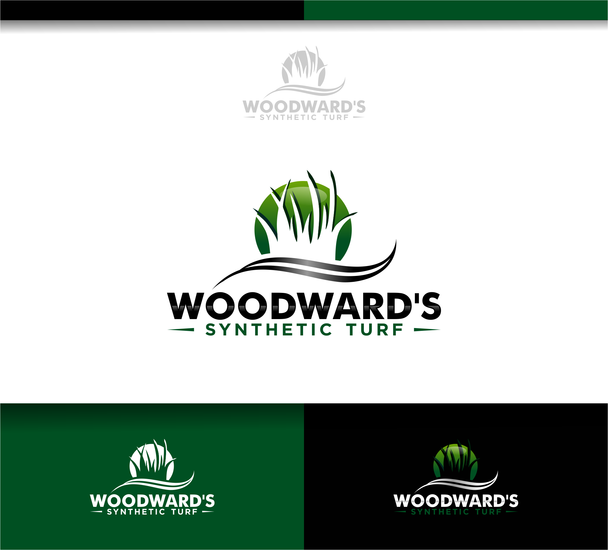 Logo Design by Raymond Garcia - Entry No. 88 in the Logo Design Contest Artistic Logo Design for Woodward's Synthetic Turf.
