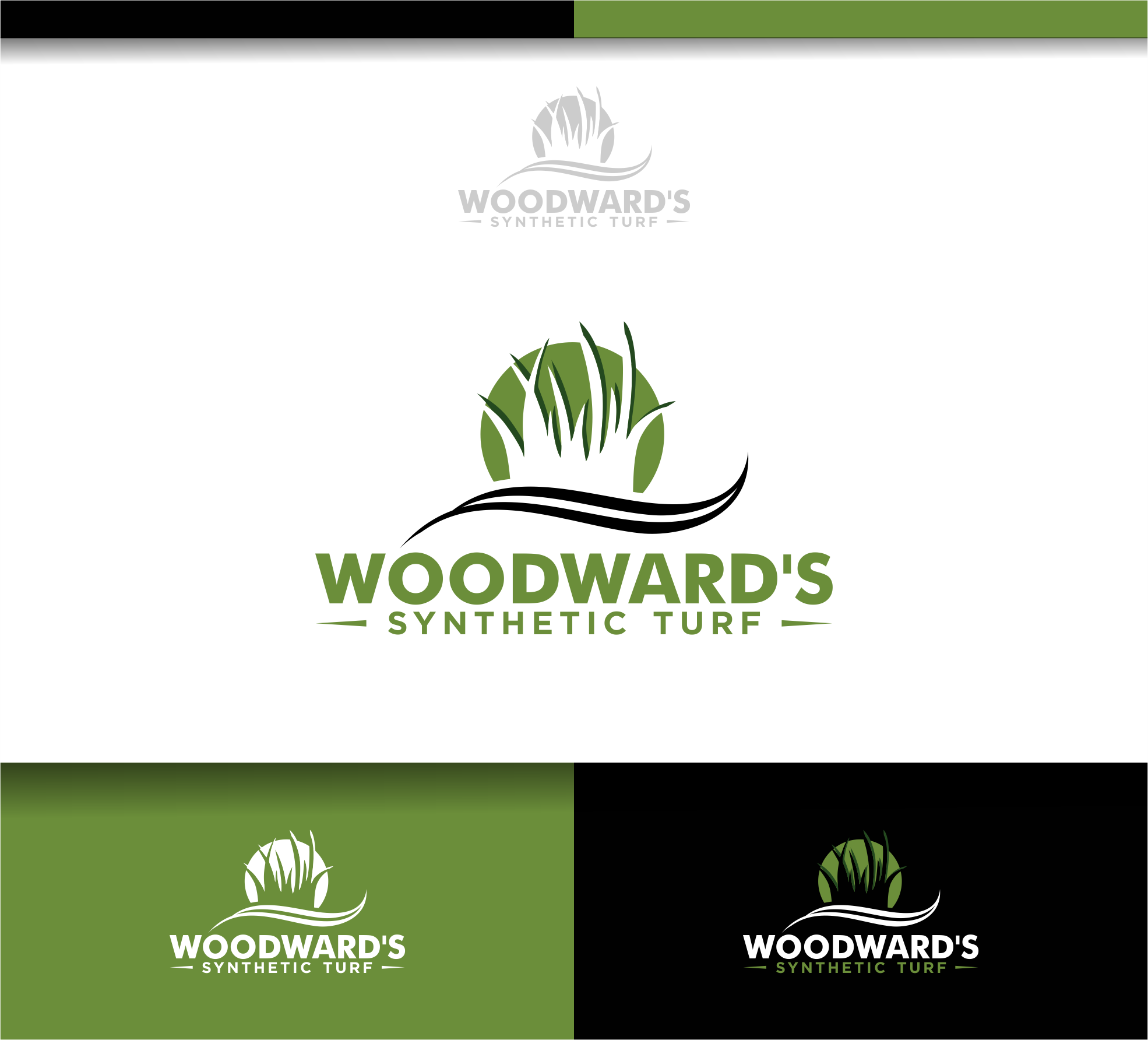 Logo Design by Raymond Garcia - Entry No. 89 in the Logo Design Contest Artistic Logo Design for Woodward's Synthetic Turf.