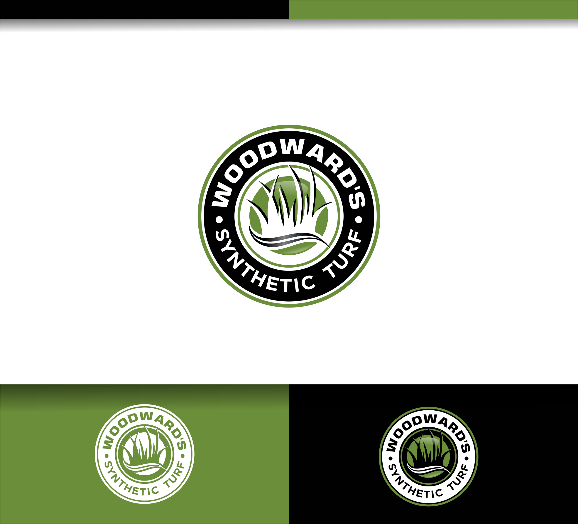 Logo Design by Raymond Garcia - Entry No. 90 in the Logo Design Contest Artistic Logo Design for Woodward's Synthetic Turf.