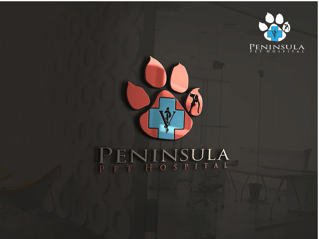 Logo Design by Wilfred Ponseca - Entry No. 144 in the Logo Design Contest Creative Logo Design for Peninsula Pet Hospital.