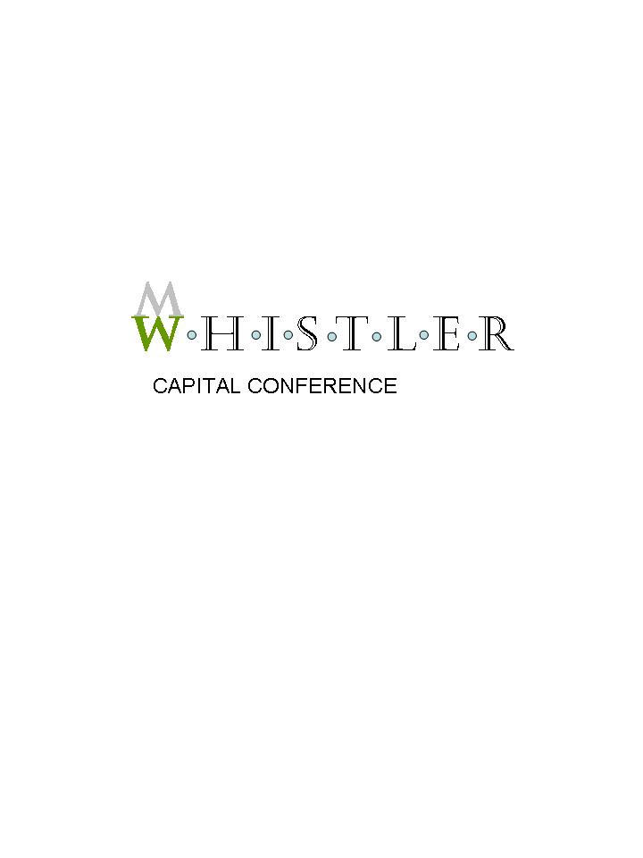 Logo Design by cartoonartist - Entry No. 41 in the Logo Design Contest Whistler Capital Conference.