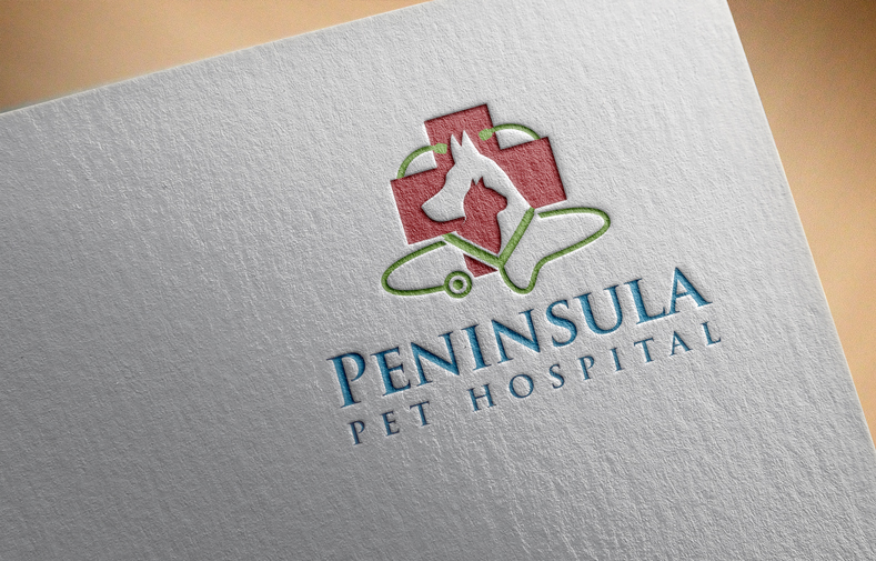 Logo Design by Private User - Entry No. 149 in the Logo Design Contest Creative Logo Design for Peninsula Pet Hospital.