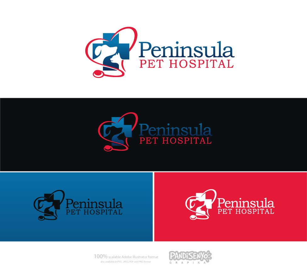Logo Design by pandisenyo - Entry No. 150 in the Logo Design Contest Creative Logo Design for Peninsula Pet Hospital.