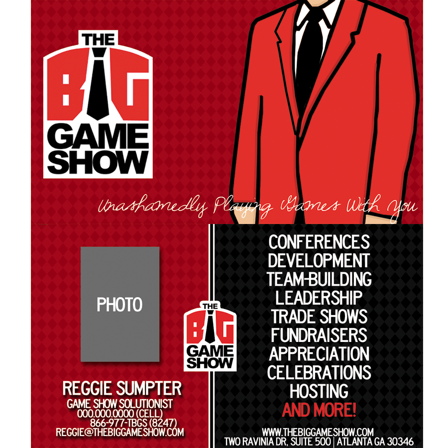 Business Card Design by bambino - Entry No. 24 in the Business Card Design Contest The Big Game Show business cards.