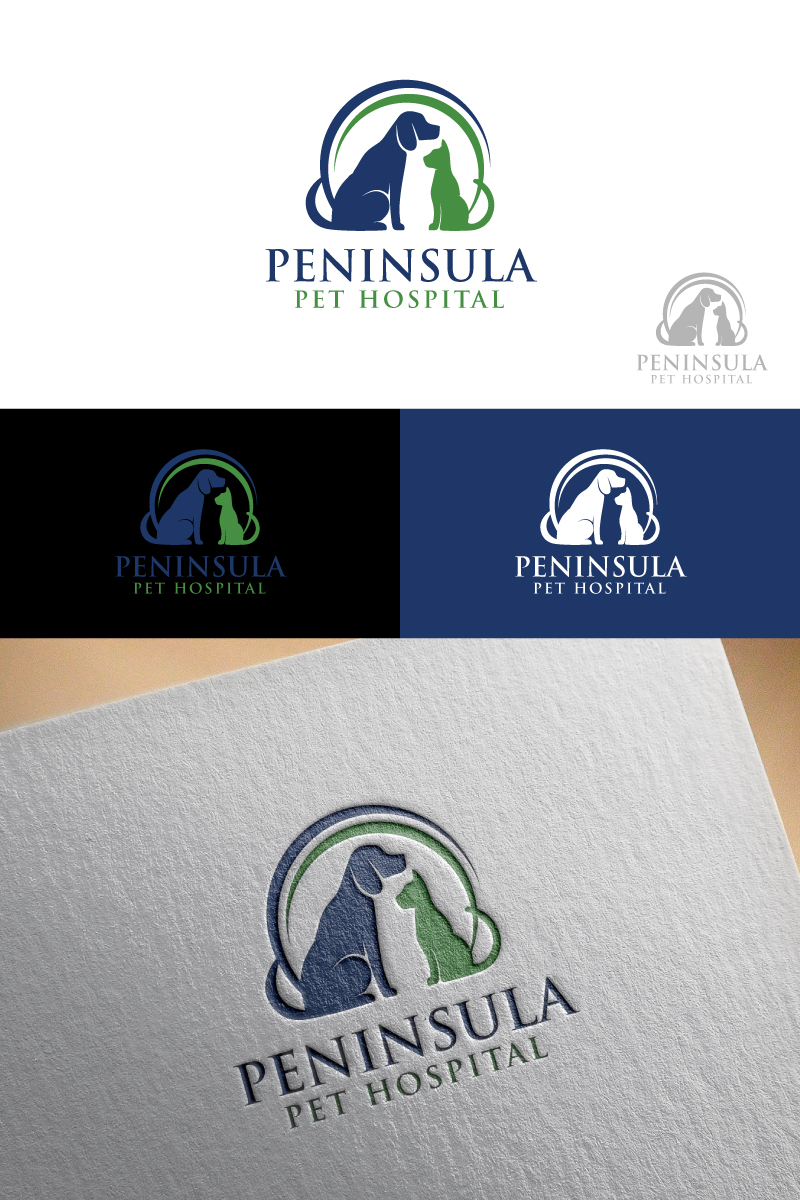 Logo Design by Tauhid Shaikh - Entry No. 155 in the Logo Design Contest Creative Logo Design for Peninsula Pet Hospital.