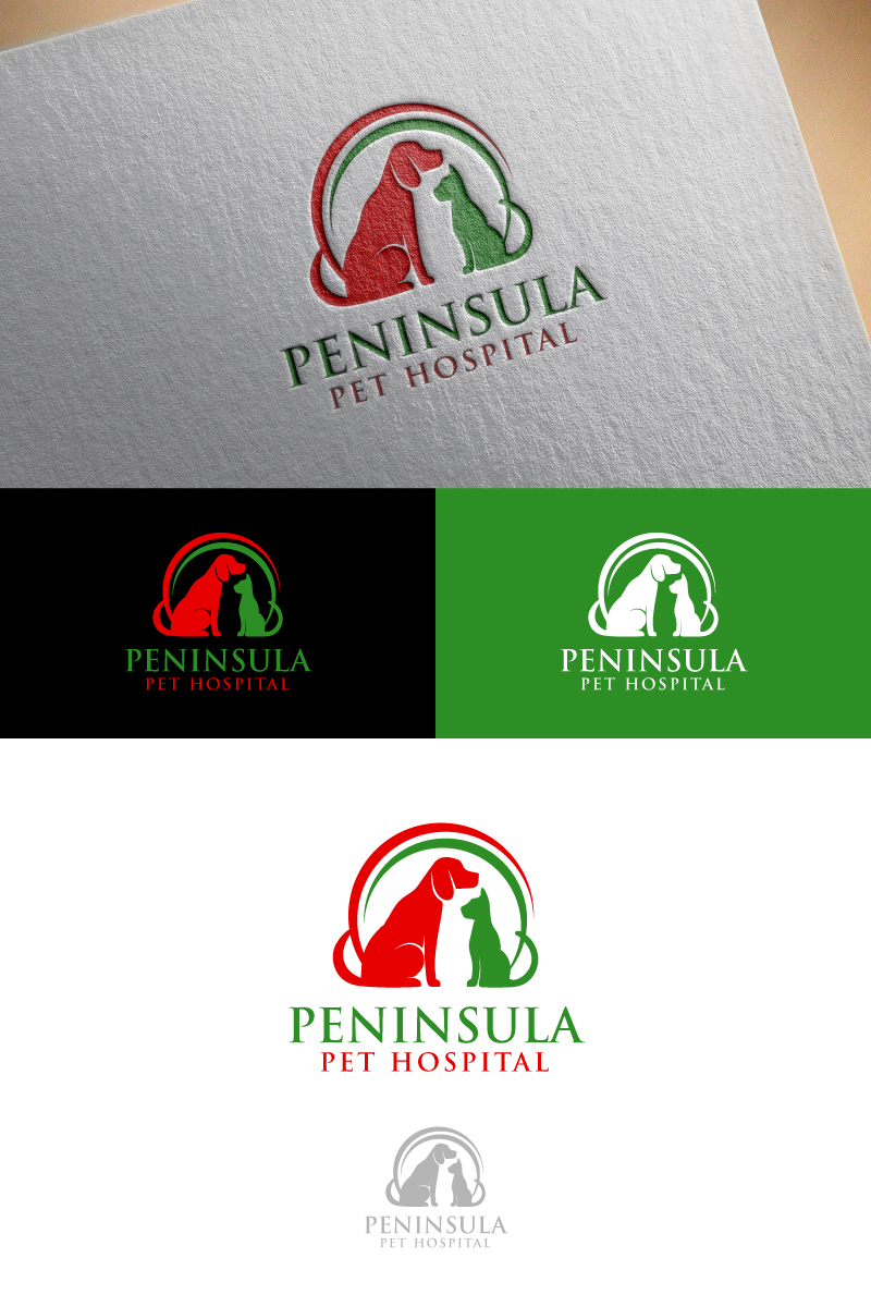 Logo Design by Tauhid Shaikh - Entry No. 156 in the Logo Design Contest Creative Logo Design for Peninsula Pet Hospital.