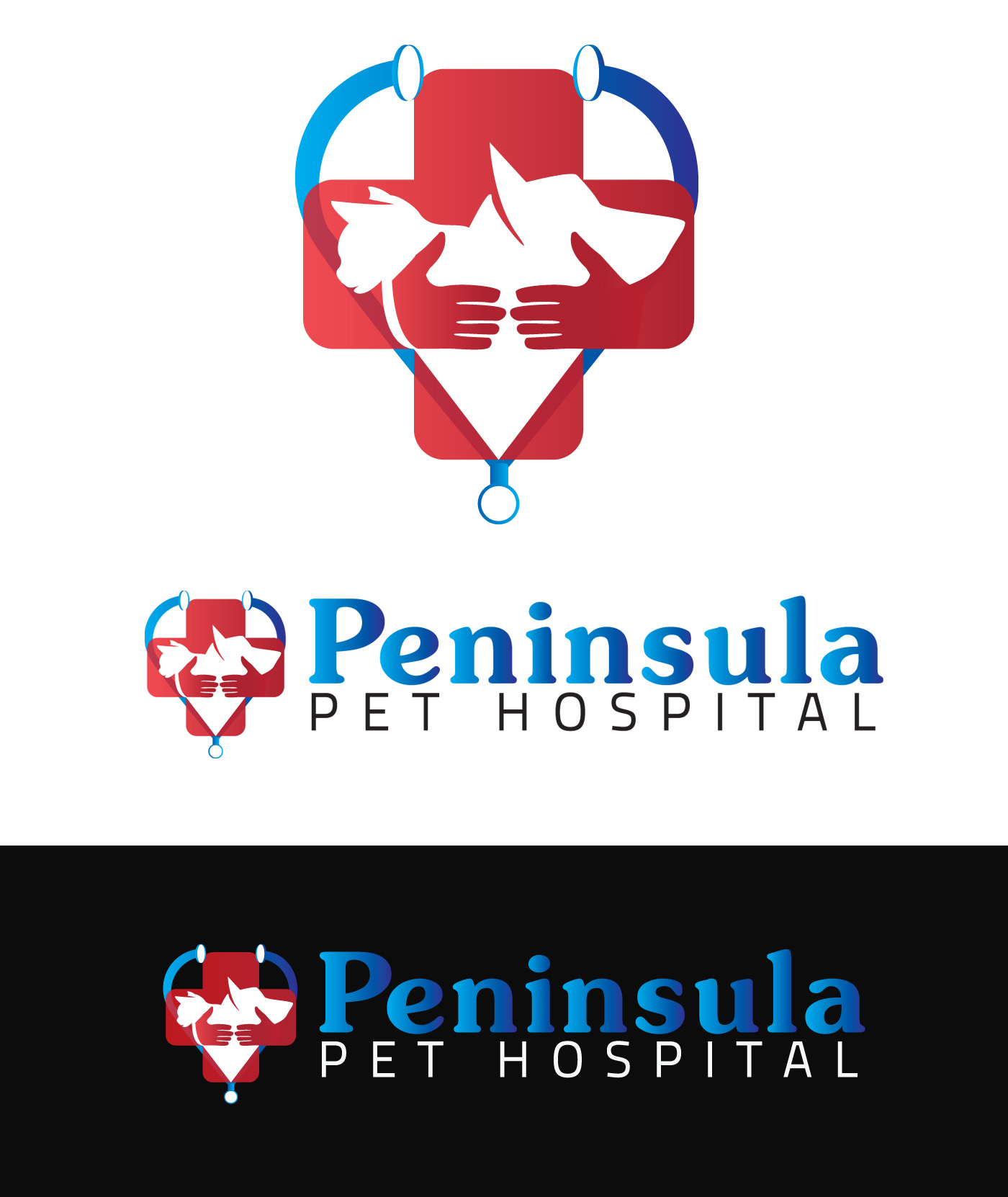 Logo Design by Manufaktura - Entry No. 158 in the Logo Design Contest Creative Logo Design for Peninsula Pet Hospital.