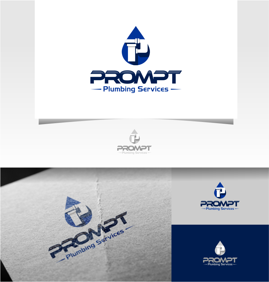 Logo Design by Raymond Garcia - Entry No. 1 in the Logo Design Contest Artistic Logo Design for Prompt Plumbing Services.