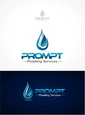 Logo Design by Raymond Garcia - Entry No. 2 in the Logo Design Contest Artistic Logo Design for Prompt Plumbing Services.