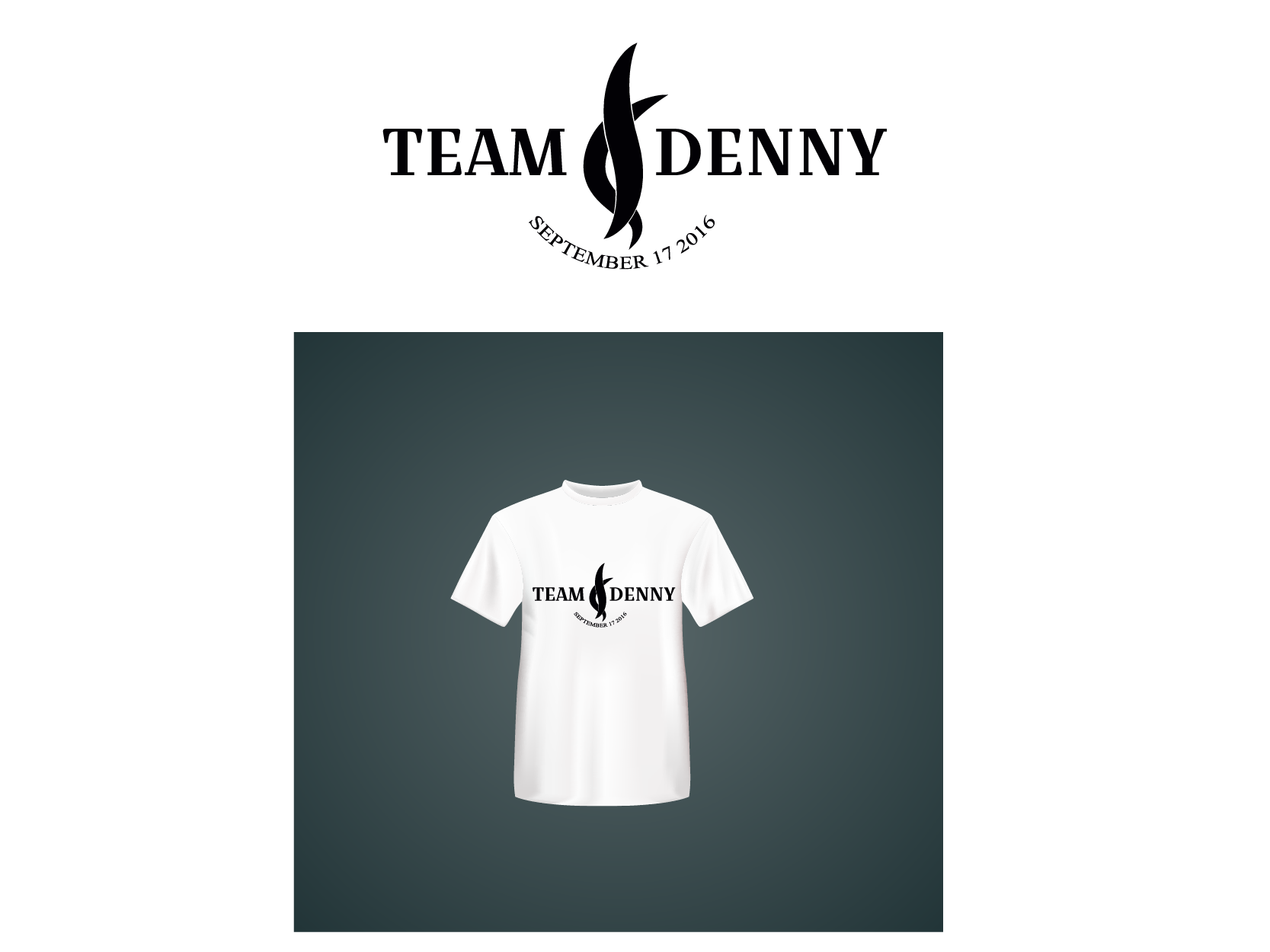 Logo Design by Private User - Entry No. 19 in the Logo Design Contest  Logo Design for Team Denny front t shirt.