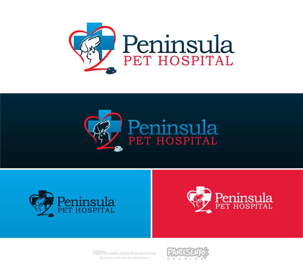 Logo Design by pandisenyo - Entry No. 169 in the Logo Design Contest Creative Logo Design for Peninsula Pet Hospital.