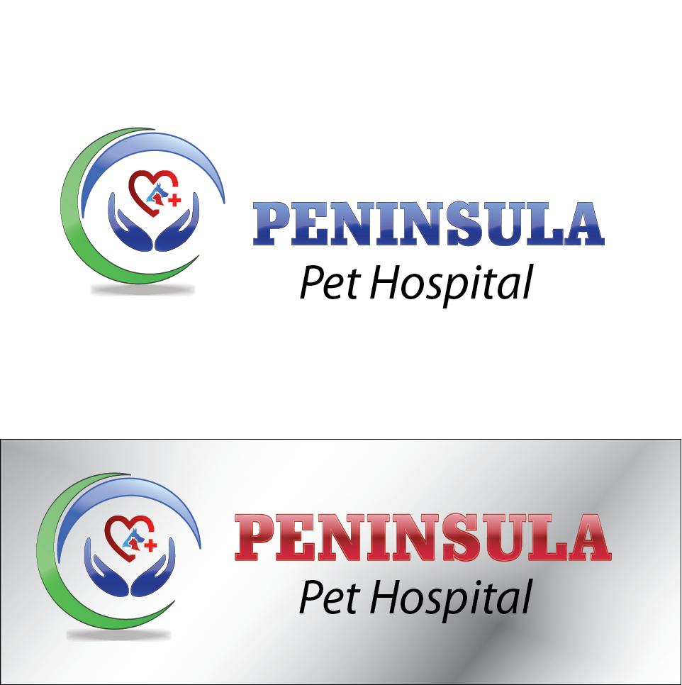 Logo Design by Jastinejay Manliguez - Entry No. 172 in the Logo Design Contest Creative Logo Design for Peninsula Pet Hospital.