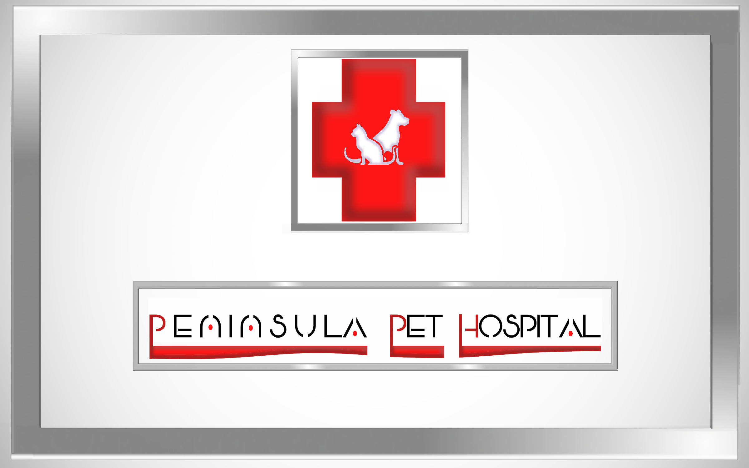 Logo Design by Roberto Bassi - Entry No. 174 in the Logo Design Contest Creative Logo Design for Peninsula Pet Hospital.